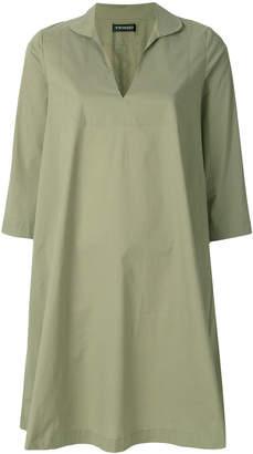 Twin-Set open collar shirt dress