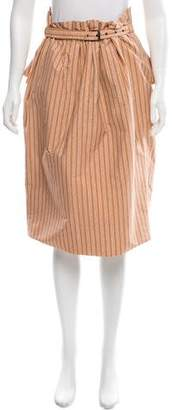 Bottega Veneta Striped Peplum Skirt w/ Tags