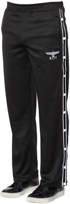 Boy London Nylon Track Pants W/ Side Snaps
