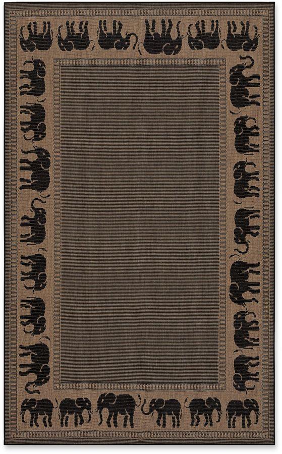CouristanCouristan Recife Elephant Indoor/Outdoor Rug in Cocoa/Black