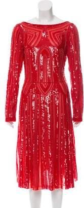 Elie Saab Embellished Long Sleeve Gown