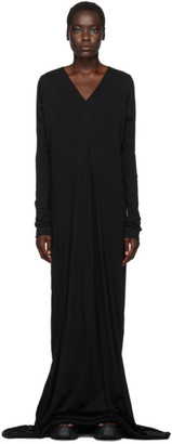 Rick Owens Black Long Sleeve Gown