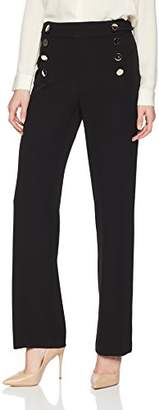 Calvin Klein Women's Wide Leg Pant with Large Buttons