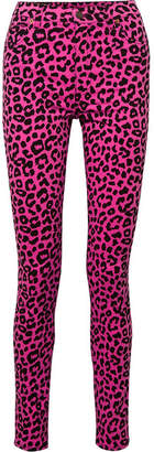 Gucci Leopard-print High-rise Skinny Jeans - Pink