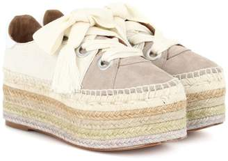 Chloé Lace-up canvas espadrilles