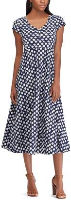 Chaps Women's Print Empire Midi Dress