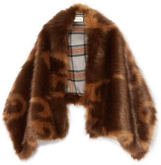 Gucci Faux Fur Stole - Brown