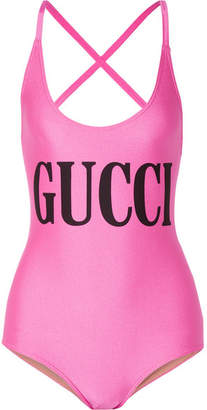 Gucci Printed Swimsuit - Bubblegum