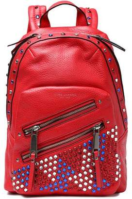 Marc Jacobs Embellished Textured-Leather Backpack