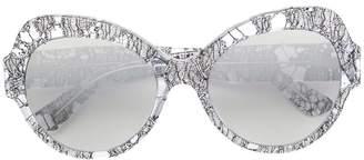 Dolce & Gabbana Eyewear round oversized sunglasses Lace edition