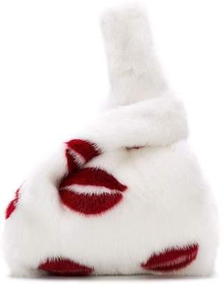 Simonetta Ravizza Furrissima lip tote bag