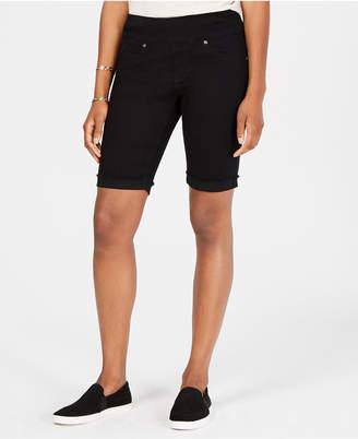 Style&Co. Style & Co Petite Ella Pull-On Denim Bermuda Shorts