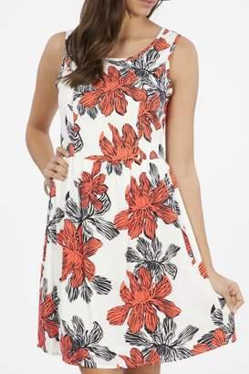 Peach Love California Floral Tank Dress