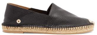 Valentino Feather Strap Leather Espadrilles - Womens - Black