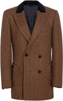 Blazé Milano Lady Anne Double-Breasted Wool-Crepe Blazer