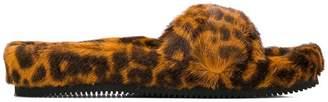 Alexander Wang Bee leopard print slides