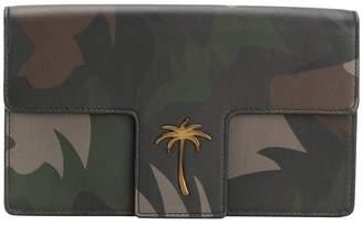 Tomas Maier camo palm t-flap clutch