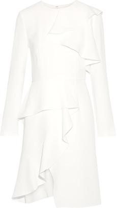 Goen J - Ruffled Crepe Dress - Ivory $805 thestylecure.com