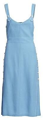 Rag & Bone Women's Tia Sleeveless Button-Trimmed Dress