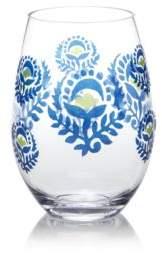 Dansk Pelle Melamine Blue Floral Stemless Wine Glass - 100% Exclusive