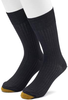 Gold Toe Goldtoe Men's GOLDTOE 2-pack Comfort Top Non-Binding Crew Socks