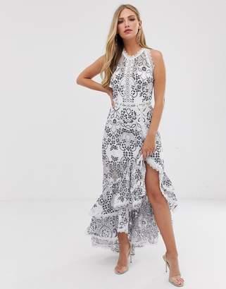 Santorini Bronx And Banco Bronx & Banco ruffle skirt maxi dress
