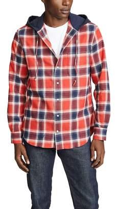 Gitman Brothers Plaid Hoodie Shirt