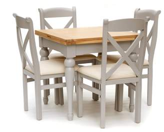 Willis & Gambier White-Washed Oak And Painted 'Worcester' Flip-Top Table And 4 Chairs