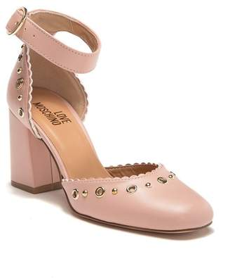 Love Moschino Gusset Ankle Strap Pump