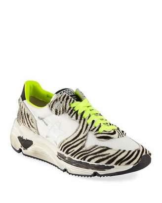 Golden Goose Zebra-Print Running Sneakers