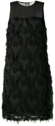 MICHAEL Michael Kors feather embroidered shift dress