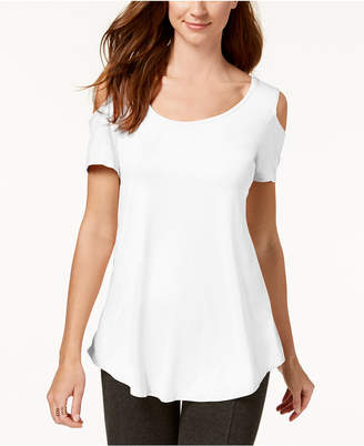 JM Collection Cold-Shoulder Swing T-Shirt