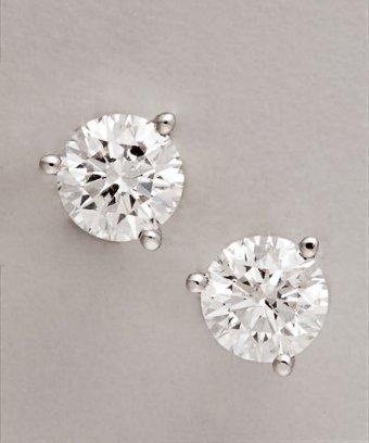 Colette Nicolai diamond and white gold 'Martini Set' 1.50tw studs
