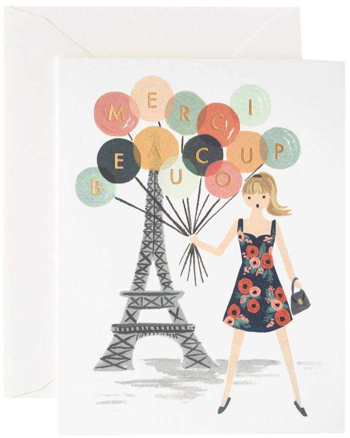 Rifle Paper Co. Merci Beaucoup Greeting Card