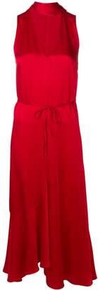Twin-Set long drape tied dress