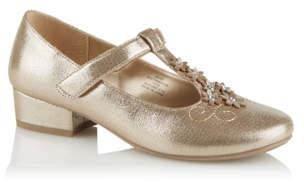 Bell George Gold Embellished Mid Heel Shoes