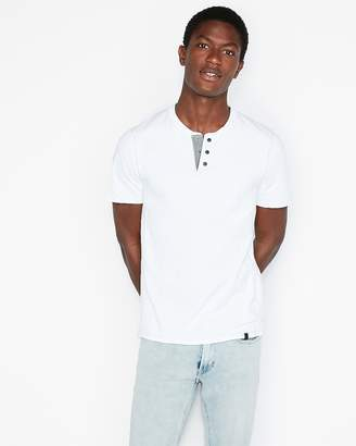 Express Snap Front Signature Henley