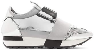 Balenciaga Silver Race Sneakers