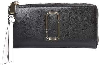 Marc Jacobs Snapshot Color-block Saffiano-leather Wallet