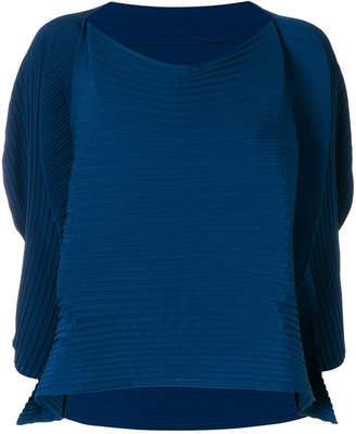 Issey Miyake floaty sleeve ribbed top