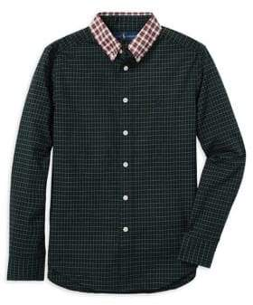 Ralph Lauren Childrenswear Boy's Plaid Cotton Poplin Collared Shirt