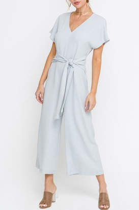 Lush Cropped Jumpsuit, Gray