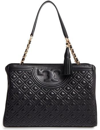 Tory BurchTory Burch Fleming Leather Shoulder Bag - Black