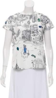 Mira Mikati Printed Short Sleeve Top