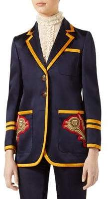 Gucci Embroidered Notched Jacket