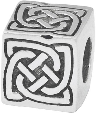 Celtic Prerogatives Sterling Silver Block Bead