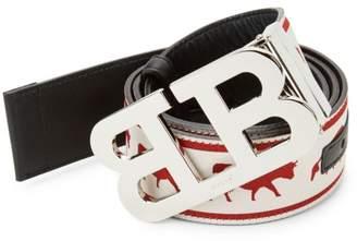 Bally Animal Reversible Mirror Belt