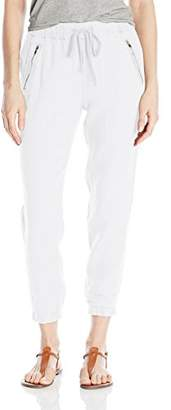 Michael Stars Women's Linen Pant with Zipper Pockets