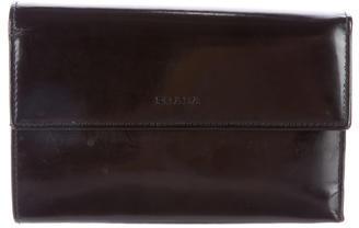 pradaPrada Spazzolato Flap Wallet