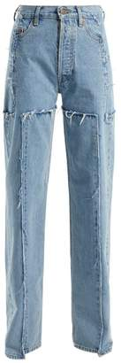 Vetements High Rise Straight Leg Jeans - Womens - Light Denim